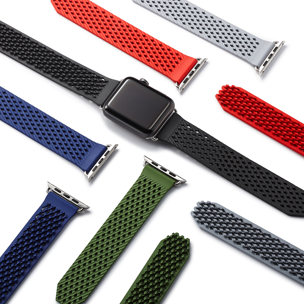 Sports silicone breathable Band for Apple watch 42mm 38mm Replaceable Watch Strap for iWatch Series 3 / 2 watchband jansin 22mm watchband for garmin fenix 5 easy fit silicone replacement band sports silicone wristband for forerunner 935 gps
