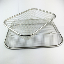 Grilling Basket,GaiaBBQ A59,1pcs,THE BEST QUALITY BBQ Mesh Grill Baskets Stainless Steel Square BBQ, Vegetable Grilling Basket
