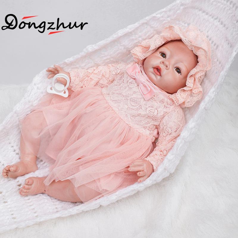 1pc OtardDolls Silicone Reborn Baby Dolls 22 inch Reborn Silicone Babies For Sale 60cm Tangkou Doll Solid Reborn Babies ingbaby