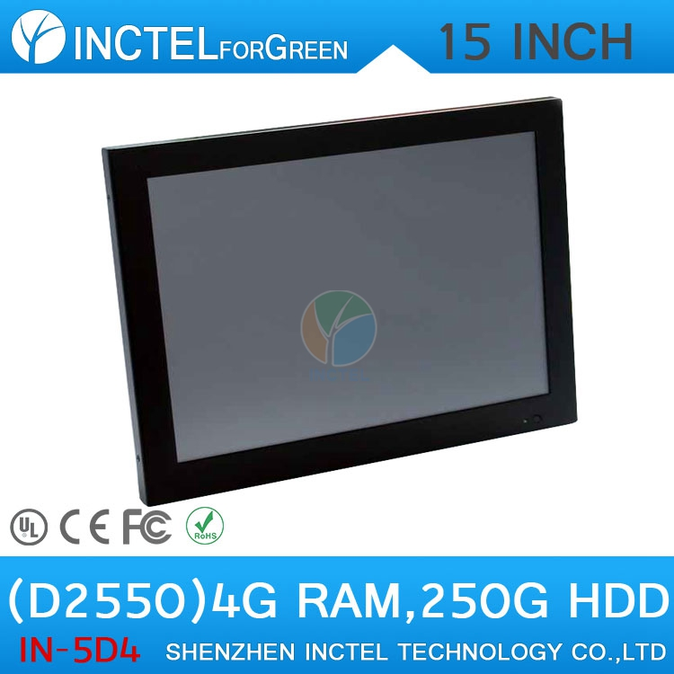 Windows All in One with HDMI 15 2mm ultra thin LED panel Intel Atom D2550 touchscreen