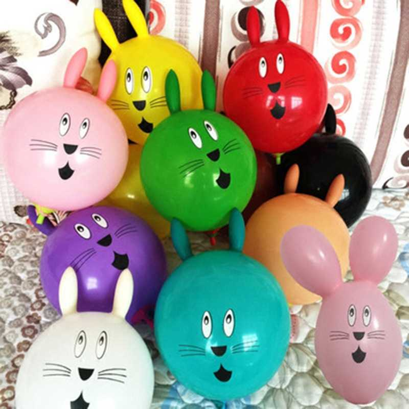 Inflatable Toys 1pc New Cute Rabbit Inflatable Ball Wedding Party Decoration Latex Balloons Kids Toy
