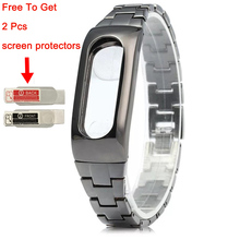 Replacement Stainless Steel Strap For Xiaomi Mi Band 2 Watchband for mi band 2 Wearable Accessories Wrist belt for Miband 2