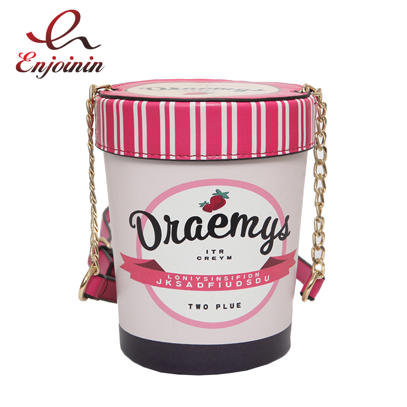 New style design letter ice cream cup chain bucket bag ladies shoulder bag handbag casual female crossbody messenger bag purse fashion new design pu leather lotus wave female chain purse shoulder bag handbag ladies crossbody messenger bag women s flap