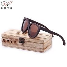 Gmyr 3 Оптические стёкла бамбука солнцезащитные очки кошачий глаз черный поляризованные деревянный Мадейра Солнцезащитные очки для женщин женские Солнцезащитные очки для женщин Кошачий глаз бренд
