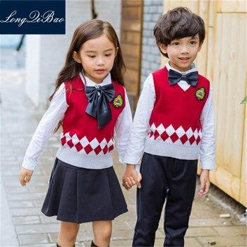 British College wind kindergarten clothing spring and autumn primary school uniforms uniforms   sweater ves