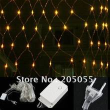 96 led mesh net string light 1.5m x 1.5m 96 Web Fairy Light For Christmas Wedding Party Xmas Decoration-Yellow(7colors optional)(China)