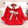 Boutique do bebê meninas jaqueta de inverno quente rosa Vermelha único breasted outwears casaco meninas Do Bebê inverno 0-24 Mo