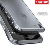 Original Luphie Luxury Bumper Case For Apple IPhone 7 Prismatic Aluminum Frame Fundas Metal Phone Cases