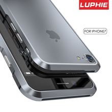 Original Luphie Metal Bumper Case For iPhone 7 Cover Luxury Aviation aluminum CNC Frame Cover For iPhone 7 Plus