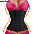 FeelinGirl 6 Rows Hook Waist Cincher Air Hole Breathable Body Shapewear Belt Corset Cincher Trainer Girdle slimming Tummy -E