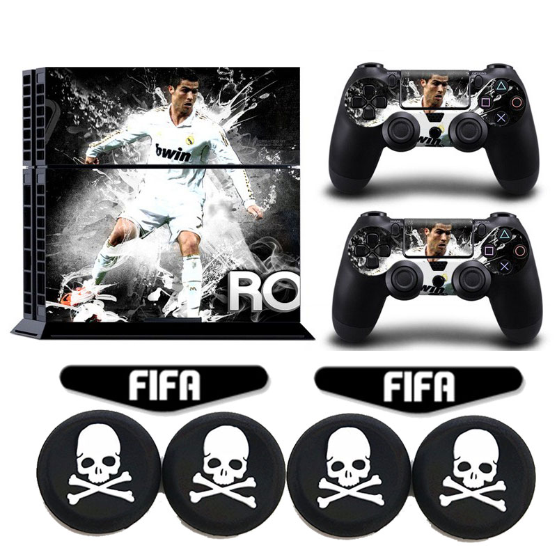 Cristiano ronaldo 7 football ps4 vinyl decal anti slip for Housse manette ps4