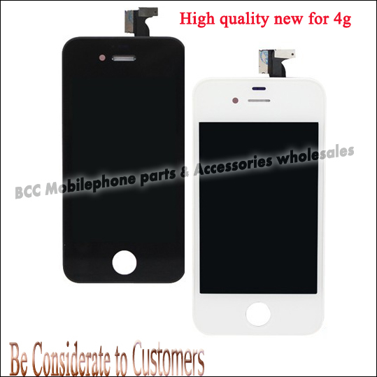 High Quality For iPhone 4 4g LCD Display+Touch Screen digitizer+Frame Replacement Assembly completed White Or Black Freeshipping black white lcd touch screen lens display digitizer assembly replacement for iphone 4 4g gsm cdma