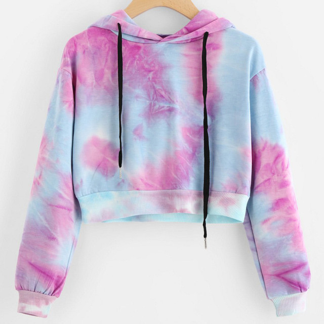 b2ce26d739e Women s Sexy Printed Long Sleeve Short Sweatshirt Hoodies Tops Short Hooded  Cotton Long Sleeve Woman Girls