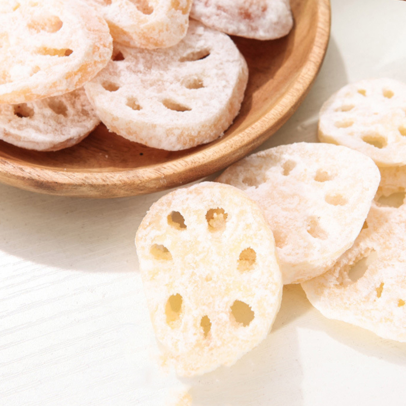 Lotus Root Snacks Chinese Sweet Food Candy Make by Rhizome