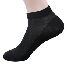 10 Pairs/lot Package Male Summer Light Socks Stripe Cotton Short Sock Wholesale White Black Dark blue Socks