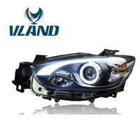 VLAND Factory For Car Headlight For CX 5 Headlight 2012 2013 2015 For CX5 LED Headlamp With Xenon Lens And Day Light+Waterproof