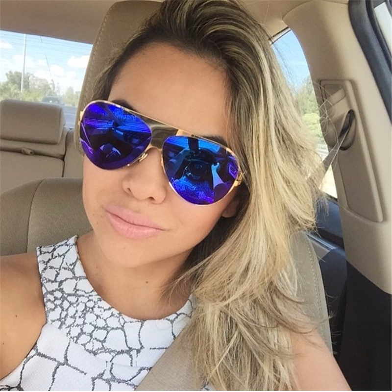 2018 Fashion Franz Sunglasses Women Brand Designer Pilot Sunglasses Female Men Sun Glasses For Ladies Women Mirror Sunglasses