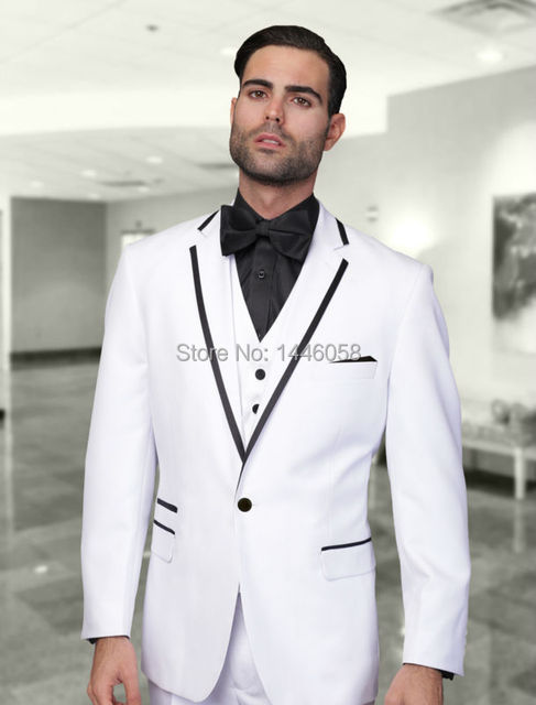 New Arrival Custom Made 3 Piece White Suits For Wedding Tuxedo ...