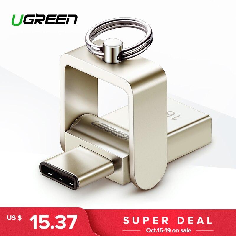 Ugreen USB Flash Drive 3,0 USB C OTG Pendrive 64 32 GB para Samsung Galaxy S9 más Nota 9 para xiaomi Redmi5 Memory Stick Pen Drive