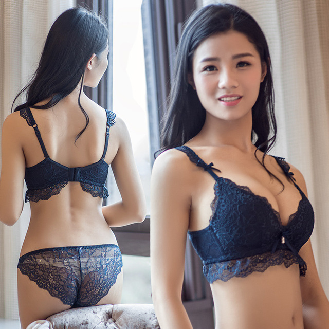 0f53d6902a970 QWEEK Women Bras Thin Sexy Lace Briefs Sets Women Kit Panty Transparent Bralette  Set Women Sexy Lingeries Push Up Underwear Bra