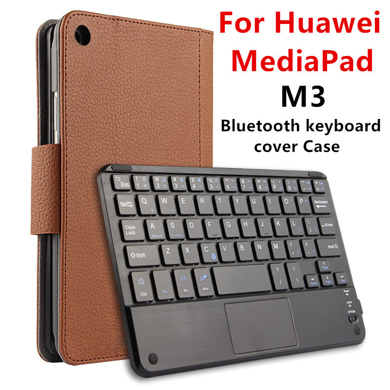 Case For Huawei MediaPad M3 Protective Wireless Bluetooth keyboard Smart cover Leather Tablet PC BTV-W09 DL09 Protector PU 8.4 купить