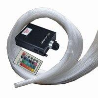 RGB LED 45 Вт Оптическое волокно свет двигателя 24key ИК пульта дистанционного управления + 500 шт. 0.75 мм 2 м конец свечение pmma волоконно оптический к