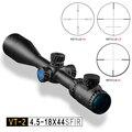 DISCOVERY optische zicht VT-2 4.5-18X44 SFIR Hawke richtkruis Tactical Mil-dot verlichte met side focus hunting rifle scope