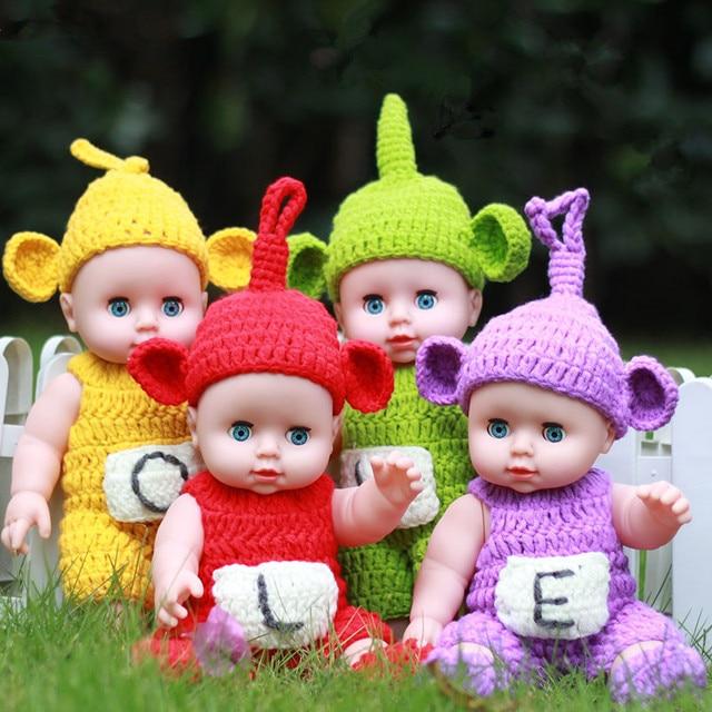 30cm Mini New Reborn Dolls Toys Teletubbies Full Vinyl Doll Handmade