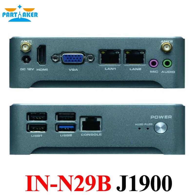 Industrial fanless nano mini pc with 2 LAN BayTrail Celeron J1900 Quad Core 2.0GHz dual lan 4 serial port nano itx board celeron j1900 quad core fanless dc 12v 12 12 cm use for mini pc vending machine