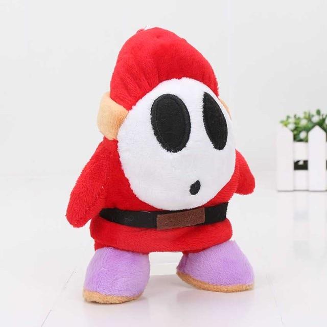 Super Mario Bros Brinquedos de Pelúcia 16 cm Cara Tímido Macio Stuffed Boneca Chaveiro De Pelúcia Brinquedo Do Bebê