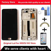 +original digiziter quality! assembly aaa meizu replacement display note frame lcd