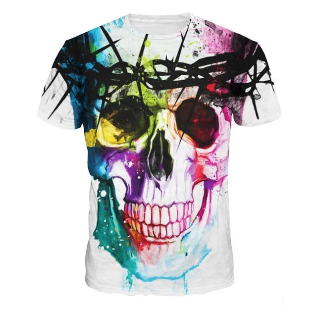 Vomint Verano Nueva Marca de Moda Camiseta de Hip Hop de Impresión 3d  calaveras Harajuku Animación 1c984ccf5d8