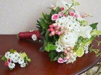 Hochzeit blume rustikalen daisied rose hält blumen