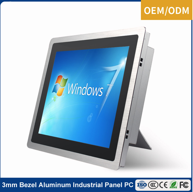 21.5 inch all in one aluminum front panel fanless industrial panel pc