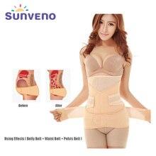 Sunveno Профессиональный пояс для беременных послеродовой пояс для живота Корректирующее белье 3 в 1 пояс для похудения утягивающий пояс для живота для женщин послеродовой бандаж