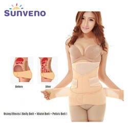 Sunveno профессии для беременных послеродовой живот группы Корректирующее белье 3 в 1 для похудения пояса подтяжки живота для Для женщин