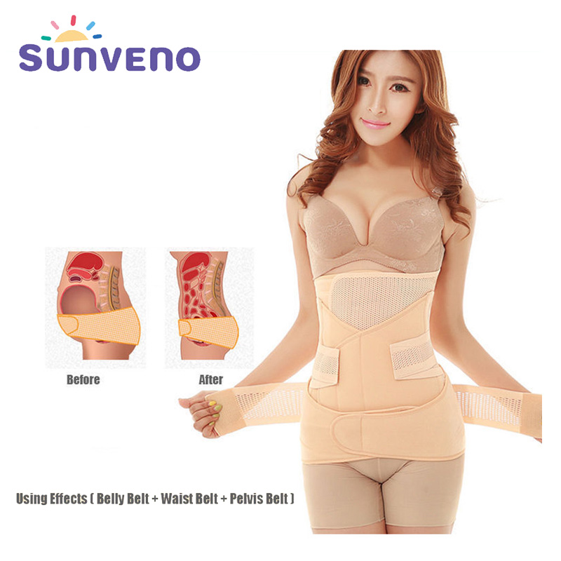 Sunveno Profession Maternity Postpartum Belly Band Shapewear 3 In 1 Slimming Belt Tightening Belly for Women Postnatal Bandage