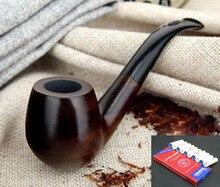 16 כלים 9mm מסנני קלאסי בעבודת יד טבעי עץ עישון צינור סט עשן טבק הובנה עץ עישון צינור F508y