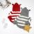 2016 Nova Moda Outono Camisola Do Bebê da Menina Do Menino Do Bebê Crianças Casaco Jacke Algodão Outfits Cinza/Preto/Vermelho da Camisola Outwear Roupas Listradas