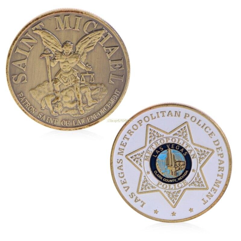 2018 Meaningful Commemorative Coin Collection Art Plating Las Vegas Metropolitan Golden Police