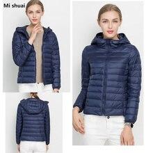 18 Color 2016 Winter Women Ultra light 90% White Duck Down Hooded Jacket Women Jackets Long Sleeve Warm Slim Coat Parkas Female