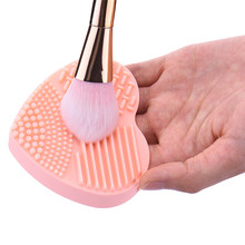 New Heart Shape Cosmetics Clean Wash Brush Makeup Brushes Silica glove washer Council Cosmetics tools makeup brushes Cleaning
