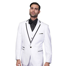 wedding suit for men tuxedo white 3 piece suit for groom wear prom dress slim fit 2017 design high quality