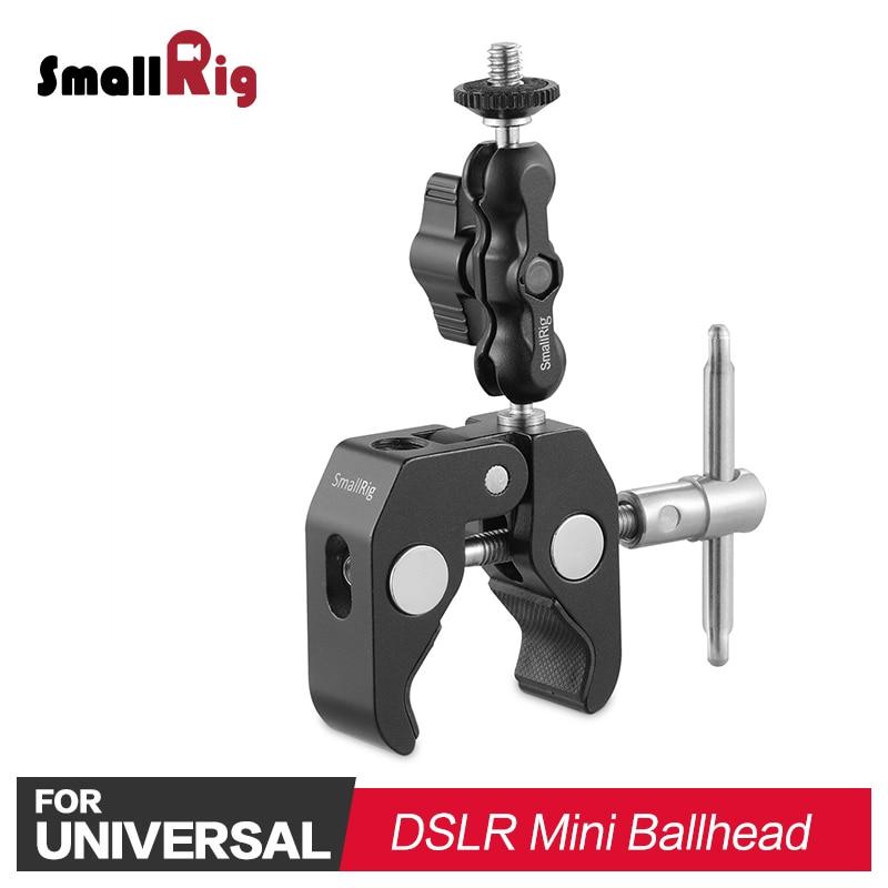 SmallRig multifuncional cangrejo en forma de abrazadera con rótula brazo para Monitor de vídeo, LED soporte 2161