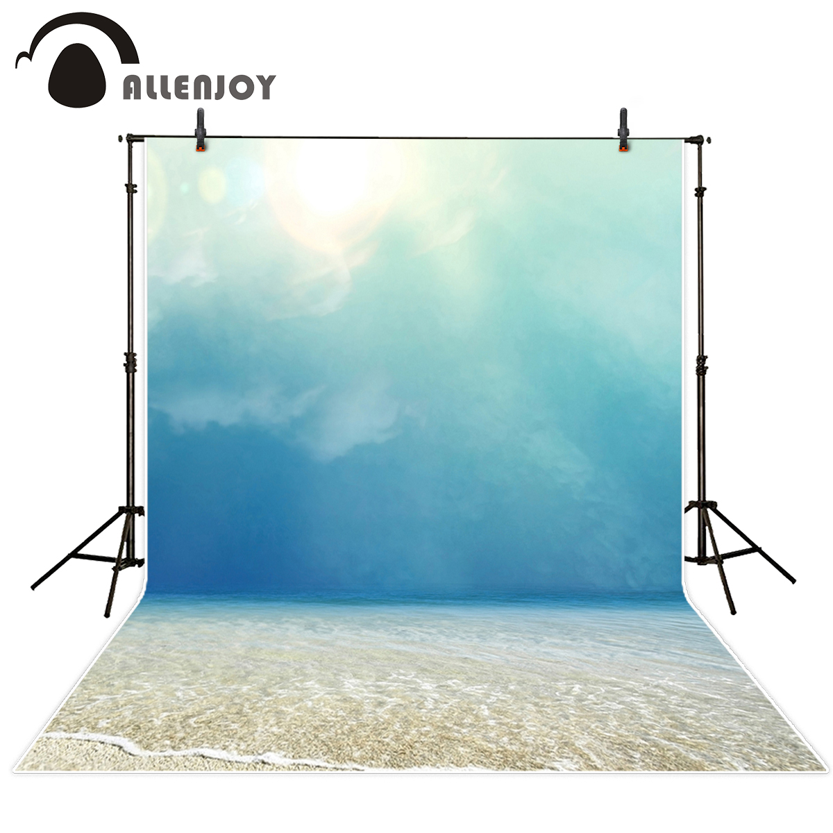 Allenjoy photography backdrops Blue sky Beach Sunshine ocean photographic camera backdrop Natural Scenery personal customize фигурки blue sky фигурка северный олень