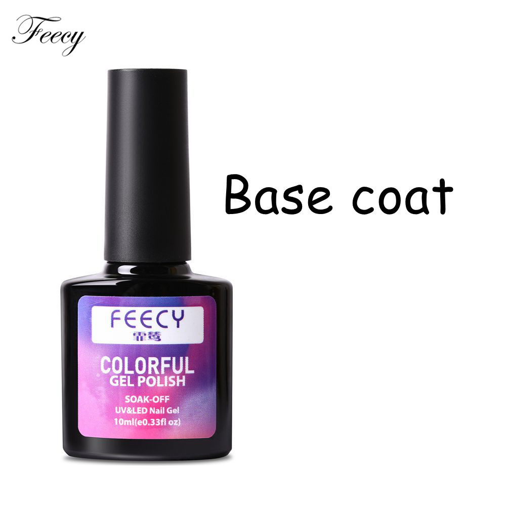 10ml no wipe semi permanent vernis top base coat set kit uv led soak off gel nail polish long