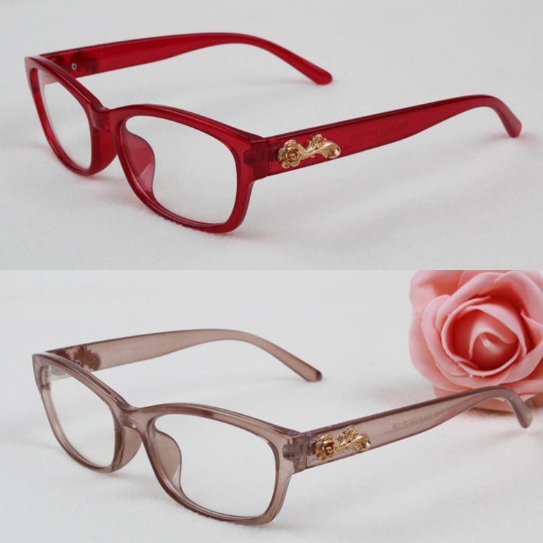 163e7e3e6ff Classic Fashion Eyewear Womens Eyeglasses Clear Lens Girls Spectacles Frame  Flower Decoration Female Stylish Retro Glasses-in Eyewear Frames from  Apparel ...