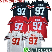 e911f654a87 Men's Ohio State Buckeyes Nick Bosa 97 College Jersey - Black White Red  Stitched Size S