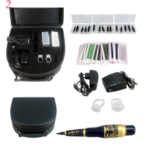 Tattoo 5Color Eyebrow Pen Tattoo Kit Permanent Makeup Eyebrow Machine Set Foot Pedal Switch Needle Tip
