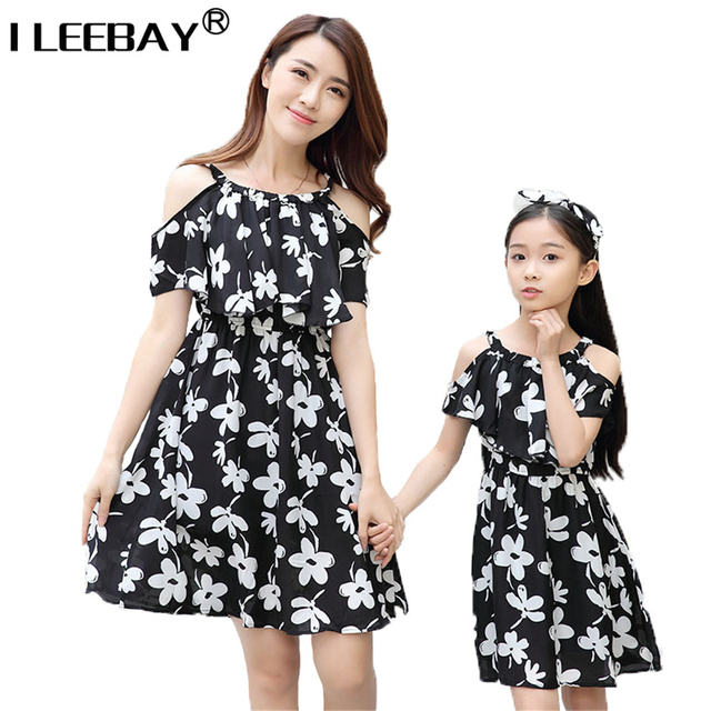 Mother Daughter Dresses Family Clothing Matching Mum Girl Clothes Family Look Bohemian Dress Roupa Mae e Filha Rapa Mama e Hija